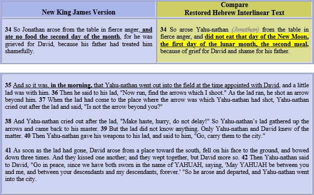 1 Samuel 20=34-41