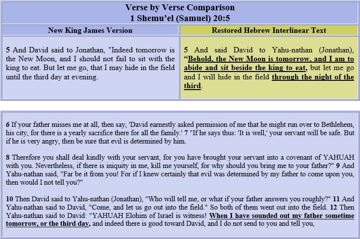 1 Samuel 20=5-10 - text - small
