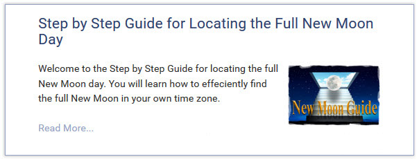 Step by Step Guide to locating the full New Moon