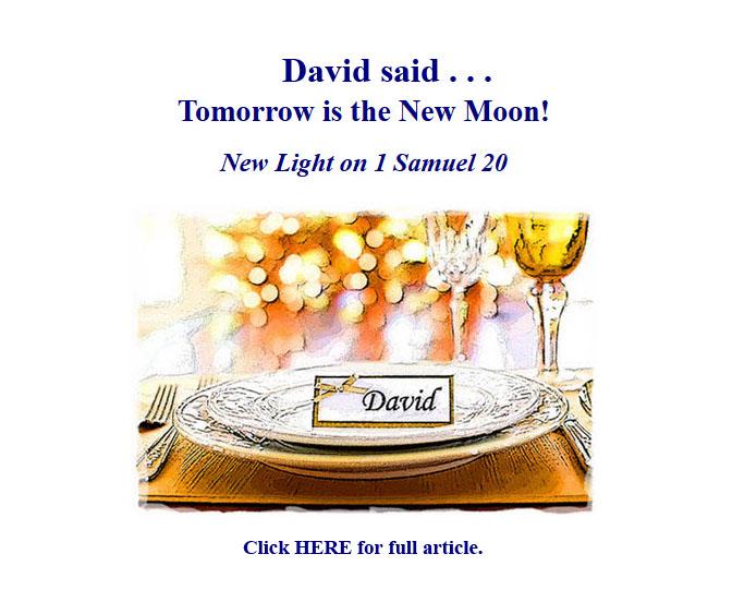 omorrow is the New Moon