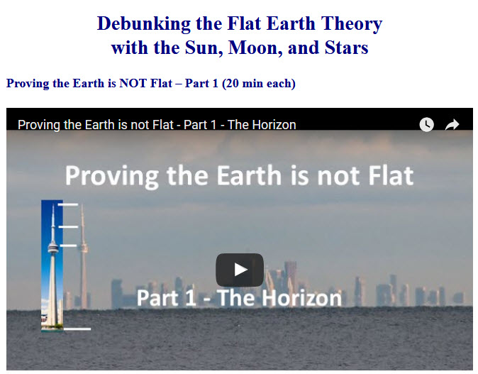 flat earth debunked