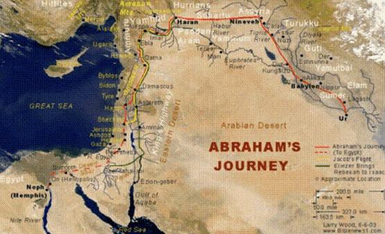Abraham's-journey-map